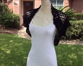 Free Shipping in US Summer Sky at Midnight Shrug in Lightweight Cotton Blend Women Teens Bolero Cardigan Sweater