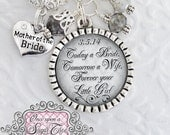 Mother of the Bride Necklace, Gift from Bride, Custom Wedding Jewelry, Inspirational Jewelry, Personalized Wedding Date Jewelry, Wedding