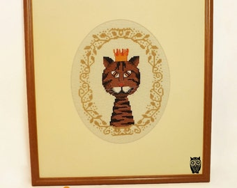 CatKing Cross Stitch Pattern