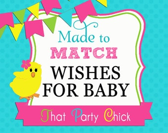 Made to Match Wishes for Baby Printable by That Party Chick