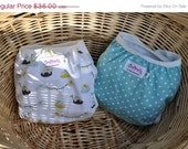 STOREWIDE SALE READY To Ship -- Diaper Cover Set, My Happy Nursery in elefete - size M