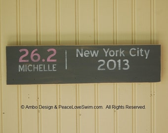 Marathon Running Medal Display Hanger - Can be personalized for FREE