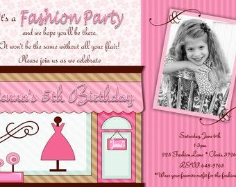 Fashion Birthday Invitation