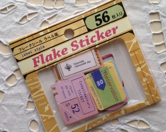 NEW 56 small sticker flakes tickets