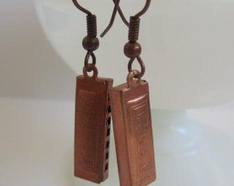 Harmonica Dangle Earrings