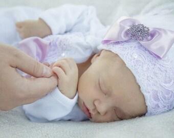 Girls Newborn Baby Hospital Hat Beanie 0-3 months Hats & Bonnets, Accessories,Kids
