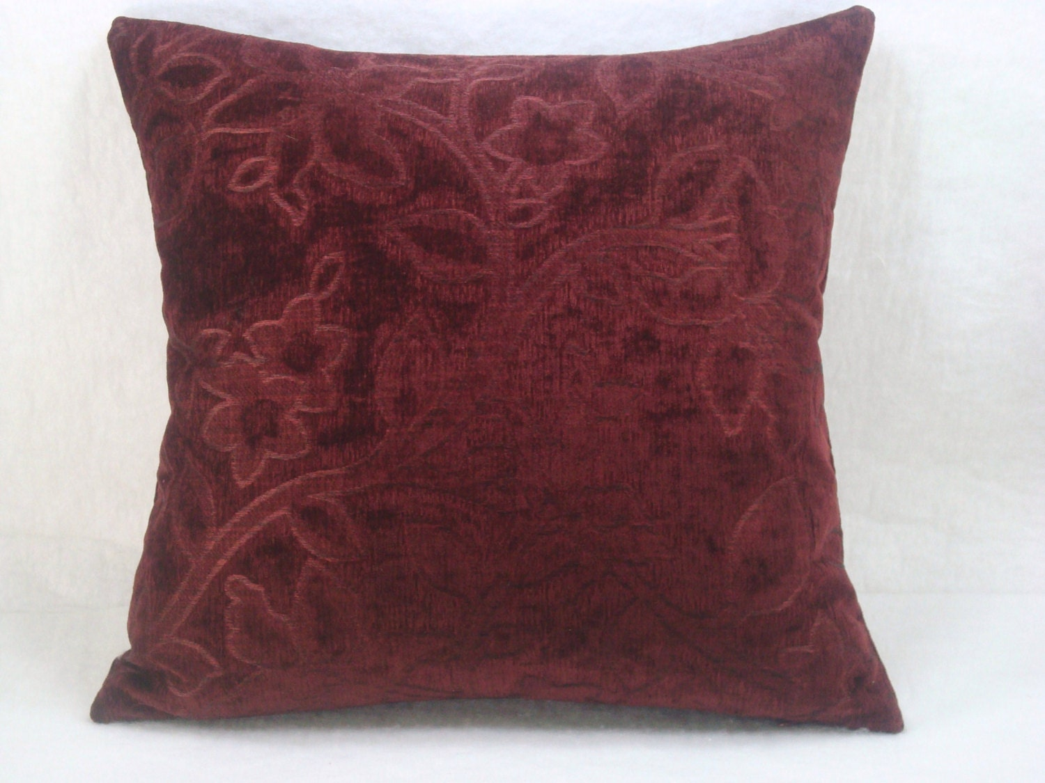 Throw Pillows Maroon : Decorative Upholstery Pillow Maroon Sofa Pillow 18x18 Pillow