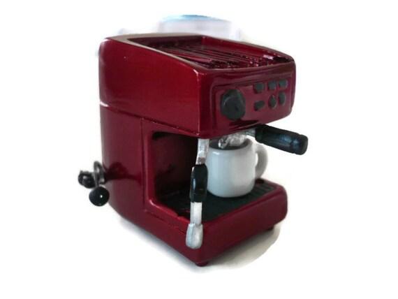 Dollhouse Miniatures Coffee Maker Machine Red Kitchenware
