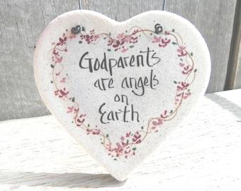 Godparents Gift Salt Dough Ornament