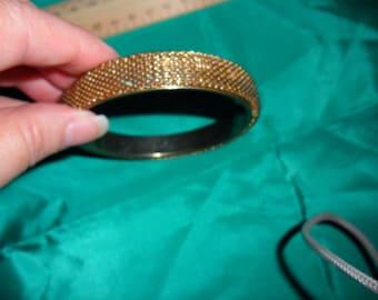 Authentic Vintage Dark Gold Bangle