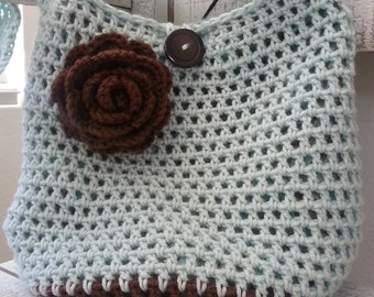 Crochet Market Bag - Market Tote-Beach Bag- (PHOTO BAG) Bags & Purses, Beach Bag- shopping- women-flowers-gift