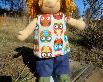 """Cross back top pattern for 13"""" doll PDF instant download"""