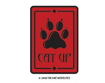 Cat Up Sticker