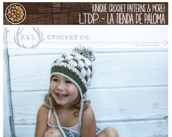INSTANT DOWNLOAD - Crochet Pattern - Patchwork Earflap - Crochet Hat Pattern