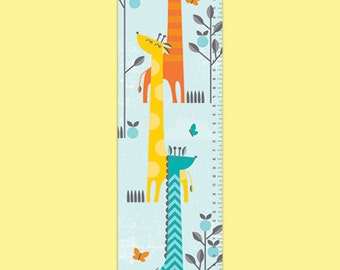 Personalized Growing Giraffes Growth Chart - Boy