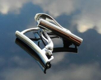 EXCLUSIVE Sterling Silver Lever Back ear hooks earrings 925 1 PAIR European Earwires