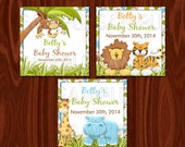 Jungle Baby Shower Favor Tags