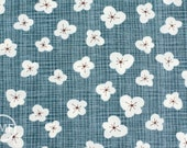 LAST PIECE Autumn Woods Magnolia Blossom in Steel, Kate and Birdie Paper Co., 100% Cotton, Moda Fabrics, 13133 17