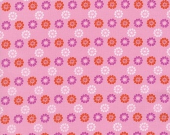 Mustang Daisies in Pink, Melody Miller, Cotton+Steel, RJR Fabrics, 100% Cotton Fabric, 0007-001