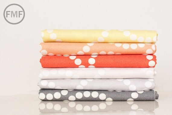 Fat Quarter Bundle Catnap Pearl Bracelet, 6 Pieces, Lizzy House for Andover Fabrics, 100% Cotton Fabric, A 4116