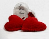 CASHMERE Pocket Hand Warmers RED HEARTS