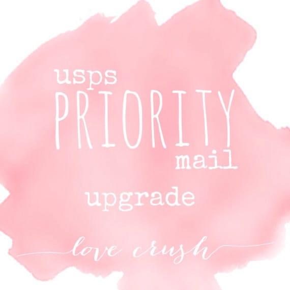 l o v e  c r u s h PRIORITY Mail Shipping Upgrade 2-3 business days (Domestic)