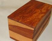Wood Keepsake Box, handcrafted Aripari exotic wood memory box, jewelry box, home decor, bridal cards. Engraved Brass Plate Free