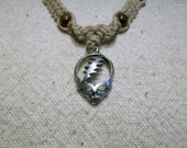 Grateful Dead Small Classic Steal Your Face Hemp Necklace