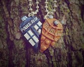 Doctor Who TARDIS & Dalek • Friendship necklaces/Keychains/Phone Straps/Earrings