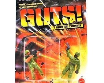 GUTS Ground Troops Lt Rick O Shea & Pistol Pete MOC 1986