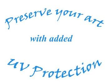 UV Protection for Micrography Art