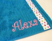 Adult Spa Towel Wrap / Personalized / Choose Color / Shower Gift / Christmas Gift / Wedding Gift