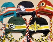 Crochet football hat...Choose any colors!