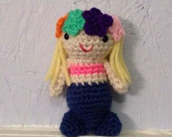 Mermaid Crocheted Doll -  Made To Order - Amigurumi