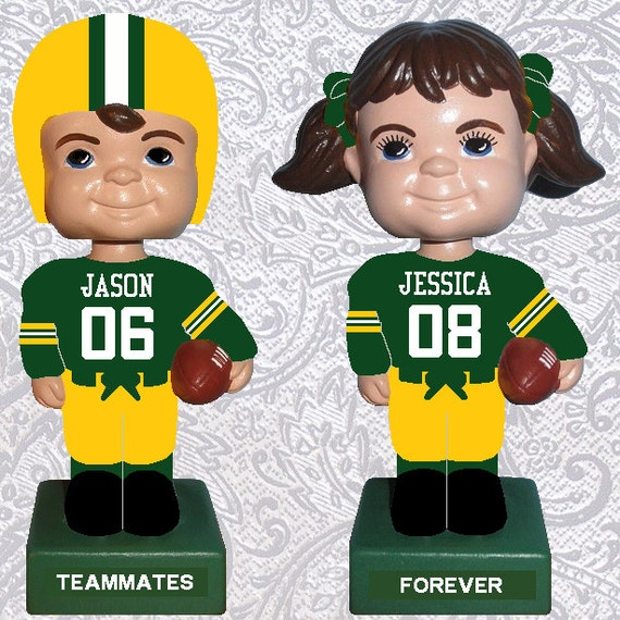 green bay packers wedding cake topper items similar to bobbleheads green bay packers football 14965