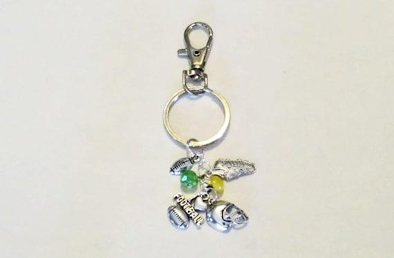 football key chain football purse charm coach by