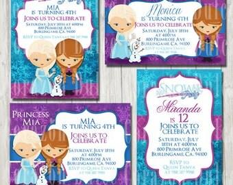 Snow Party digital PRINTABLE INVITATION- Originals design elements