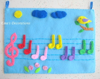 Music Felt Board PDF Pattern