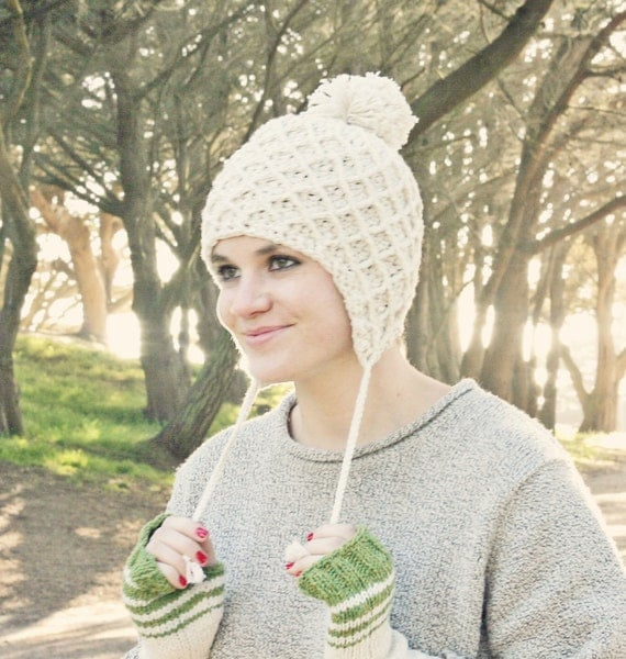 Crochet Womens Hat With Ear Flaps Pattern : Crochet Ear Flap Hat Pattern Crochet Pom Pom Hat Pattern Hat