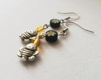 Blissful Bumblebee Earrings