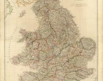 Vintage Map - England, 1832