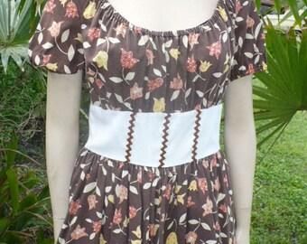 50s 60s Rockabilly lolita Broen square dance 1 piece dress Size M by KitKatCabaret on Etsy