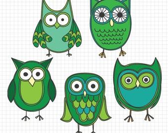 Summer Owl Clip Art Beach Owl clip art vacation clipart cute
