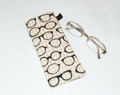 Eyeglass Case - Specs on Houndstooth - Unisex Eyeglasses Case - Gift Under 10