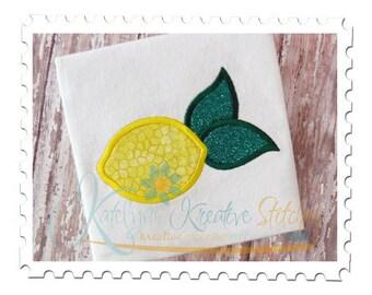 Single Lemon Applique