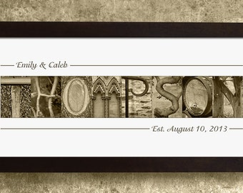 PERSONALIZED ALPHABET PHOTOGRAPHY, Wedding Gift, Anniversary Gift, Gift for the Couple