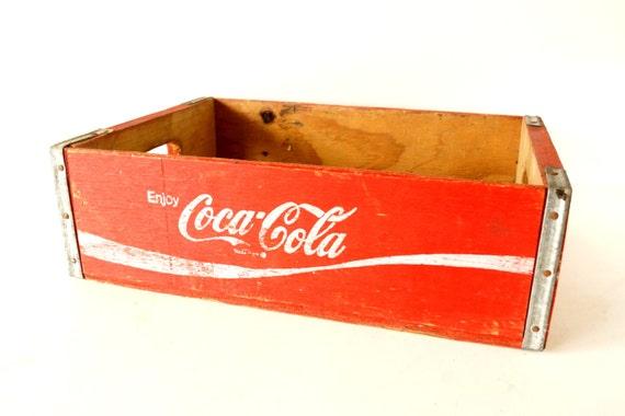 Vintage Coca-Cola Wooden Beverage Crate, Coke Crate (c.1960s) - Industrial Storage, Decor, and more