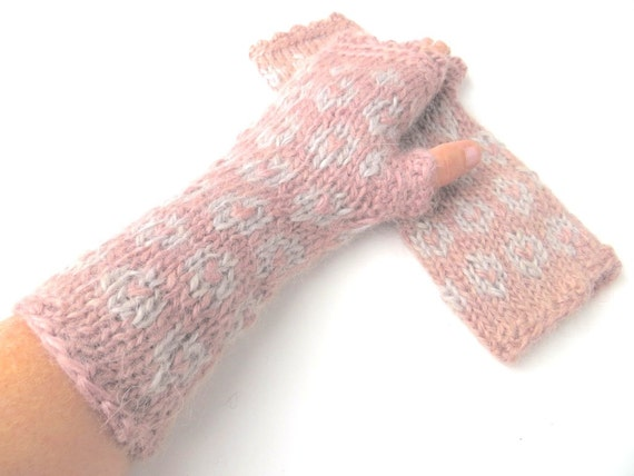 Knitting Patterns For Wensleydale Wool : Mittens Amelie pure wool Wensleydale mohair