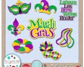 Mardi Gras Cutting Files & Clip Art - Instant Download
