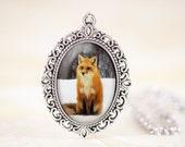 Fox Pendant, Red Fox Necklace, Woodland Animal Jewelry